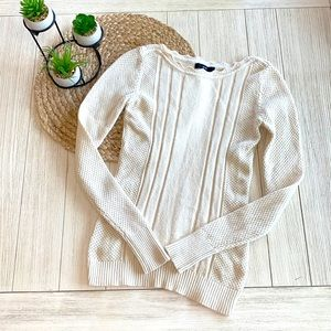 FATE Cream long sleeve sweater size XS